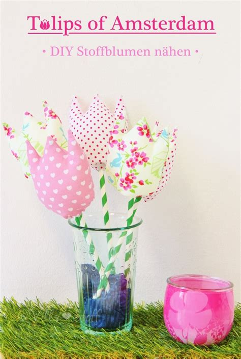 tulpen aus stoff naehen mit anleitung schnittmuster handmade kultur