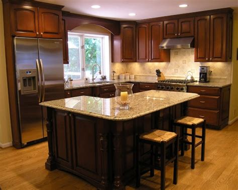kitchen island on casters traditional l shaped island kitchen design ideas remodels