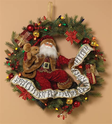 decorative wreaths battery operated prelit wreath multi