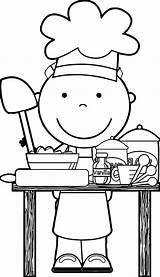 Coloring Chef Clipart Cooking Clip Baking Restaurant Dinner Kolorowanki Kitchen Dzieci Dla Preschool Restauracje Community Rocks Sheets Wecoloringpage Wonderful Restaurants sketch template