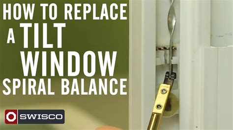 How To Replace A Tilt Window Spiral Balance Youtube