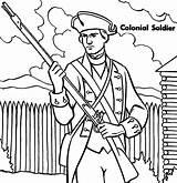 Coloring Soldier Colonial Military Colonies Roman Ross Betsy Soldiers Printable Getcolorings Getdrawings Colorings sketch template