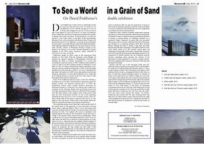 Grain Sand Exhibition David Double Finkbeiner Academia