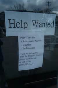 Restaurant Help Wanted Sign