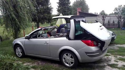 renault megane 2 cabrio renault megane cc 2 0 16v 2005 convertible prezentacja dachu w cabrio