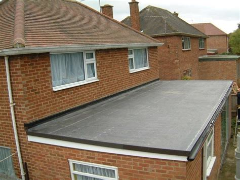 Flat Roof : Single-ply Epdm Rubber Flat Roof System