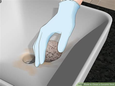 how to clean a ceramic kitchen sink 3 ways to clean a ceramic sink wikihow 9318