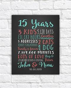 wedding anniversary gifts paper canvas 15 year anniversary With 15 year wedding anniversary gift