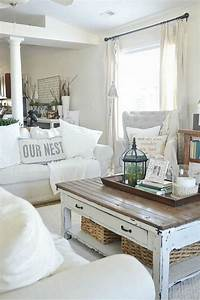 The best vintage living room sets for your home for White country style coffee table