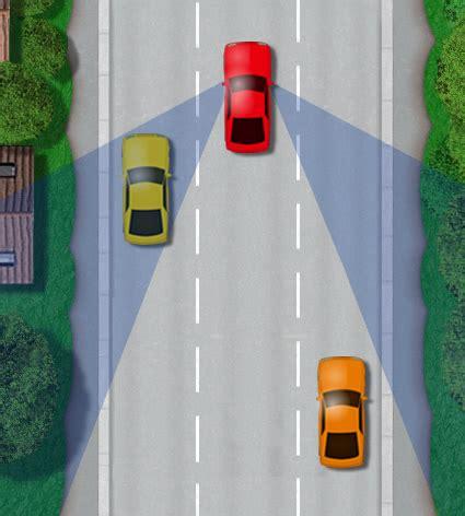 car blind spot driving test tips