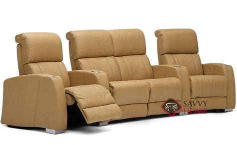 Theater Loveseat hifi leather reclining sofa by palliser is fully