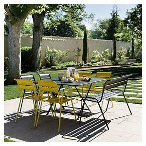 salon de jardin fermob cargo table l128 l128 cm 6 With table de jardin fermob soldes