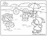 Coloring Pages Summer Printable Beach Royalty Colouring Playing Sheets Fisher Fun Scene Ball Preschool Adult Crafts Getdrawings Remind Days Kid sketch template