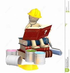 Puppet  Studying Repair Manual Royalty Free Stock