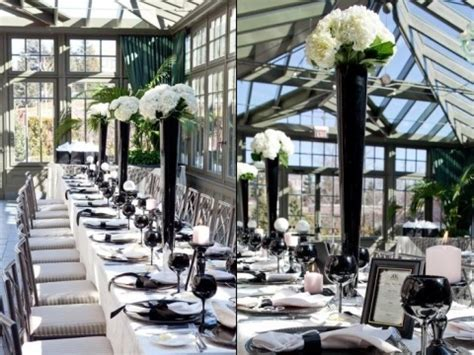 black and white dinner table setting black and white table black and white wedding party black
