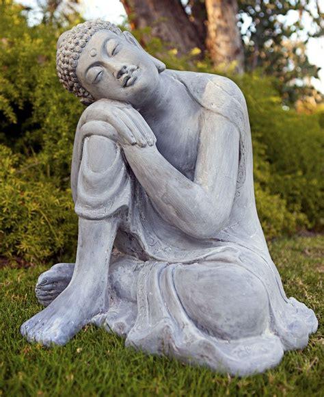 Buddha Zen Garten by Peaceful Resting Buddha Garden Statue Made Of All Weather