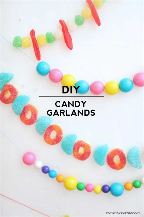 candy garland diy candy