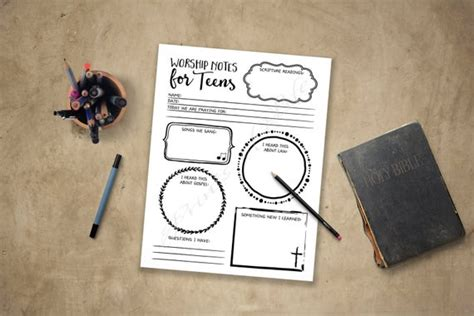 worship notes  teens sermon notes boys girls youth
