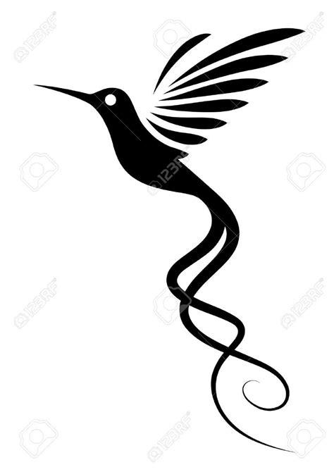 Wonderful Black Flying hummingbird Tattoo Stencil | Hummingbirds tats | Hummingbird tattoo