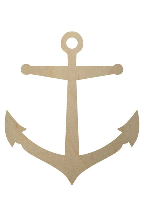 Anchor Wooden Shape  Unfinished Wooden Anchors