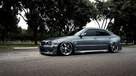 lowered muscle cars first generation lexus is riding low on muscle car rims