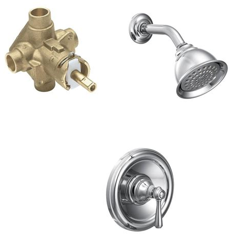 moen kingsley bathroom faucet chrome moen kingsley single handle 1 spray shower faucet trim kit