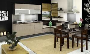 Cuisine Beige Et Bois : cuisine vitamin e glossy glam noir beige id e de ~ Dailycaller-alerts.com Idées de Décoration