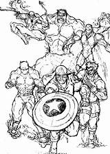 Marvel Coloring Pages Super Hero Printable Squad Characters Amazing Adults Heroes Villains Comics Marvels Netart Getcolorings Avengers Getdrawings Template Popular sketch template