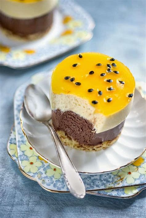 chocolate  passionfruit entremet supergolden bakes