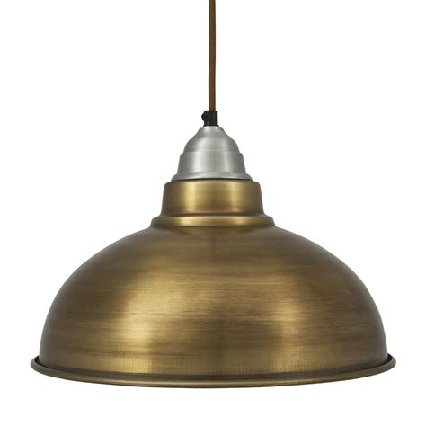 vintage style pendant light brass finish with 12 inch shade