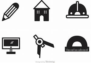 Black Architecture Tools Icons Vector - Download Free ...