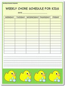 using weekly schedule template to help you plan your week With weekly schedule template for kids