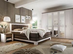 Schlafzimmer Weiß Landhaus : schlafzimmer luca nevada boxspringbett kleiderschrank nakos pinie wei tr ffel ~ Sanjose-hotels-ca.com Haus und Dekorationen