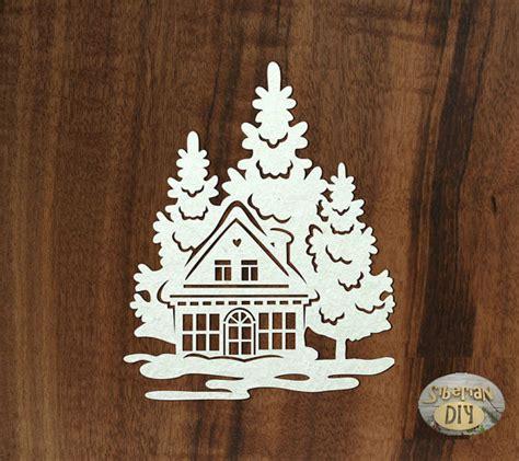 Fensterdeko Weihnachten Haus by Haus Im Wald Garten Fensterbilder Fensterbilder