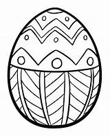 Easter Coloring Egg Pages sketch template