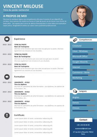 Exemple De Cv A Telecharger by Tous Les Mod 232 Les De Cv Word Et Powerpoint 224 T 233 L 233 Charger