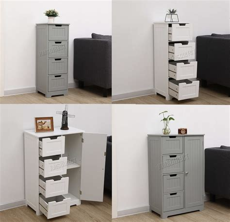 westwood bathroom storage cabinet wooden  drawer cupboard