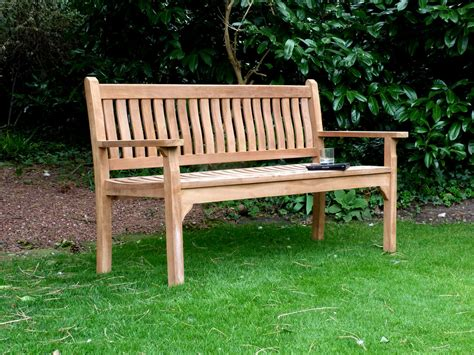 garden bench for westminster flat arm teak bench 150cm flat arm teak