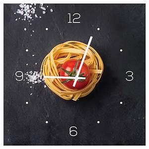 Wanduhr Aus Glas : wanduhr aus glas 30x30cm uhr glasbild k che pasta nudeln gew rze deko levandeo ~ Buech-reservation.com Haus und Dekorationen