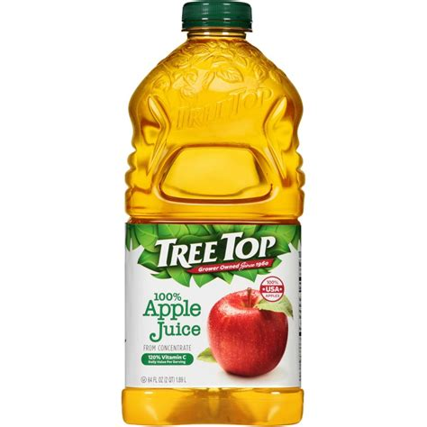 juice tree apple bottle cider 64oz treetop oz vs save nutrition facts clear fruit target super