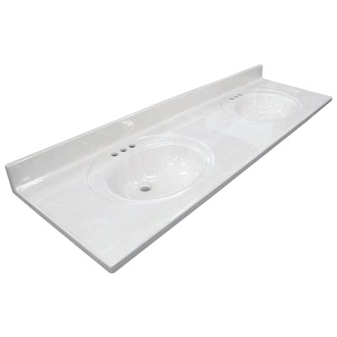 sink vanity top 73 shop us marble ambassador 101 white on white cultured