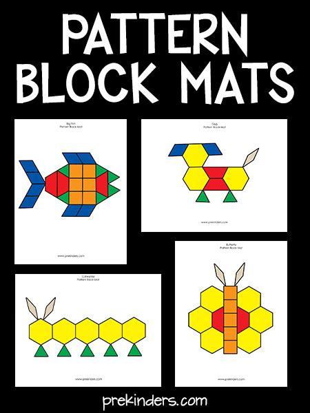 pattern block mats prekinders preschool patterns