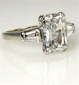 radiant cut engagement ring reserved 3 09ct estate radiant cut engagement ring egl usa