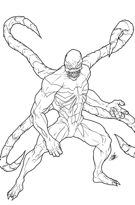 agent venom coloring pages