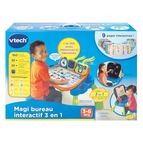 bureau educatif magi bureau interactif 3 en 1 vtech jouets 1er âge