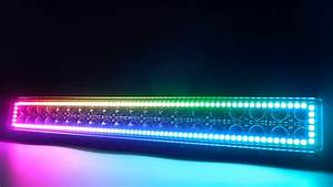 Sequential Led Light Bar With Chasing Colors Halos Insides