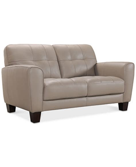 Macy S Loveseat by Furniture Kaleb 61 Quot Tufted Leather Loveseat Created For