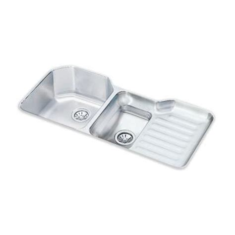 elkay lustertone undermount stainless steel 41 5 in bowl kitchen sink eluh4221l the