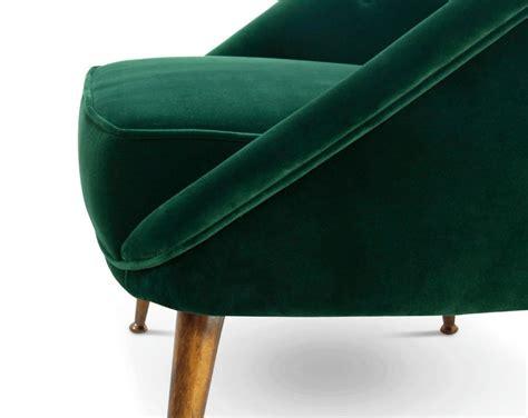 the kelly lounge chair green velvet luxury movie star