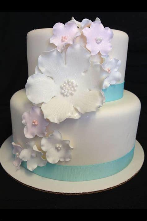 simple gumpaste flower wedding cake  creations